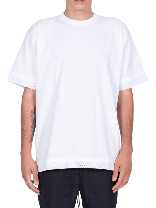Mesh Layered Tee - White