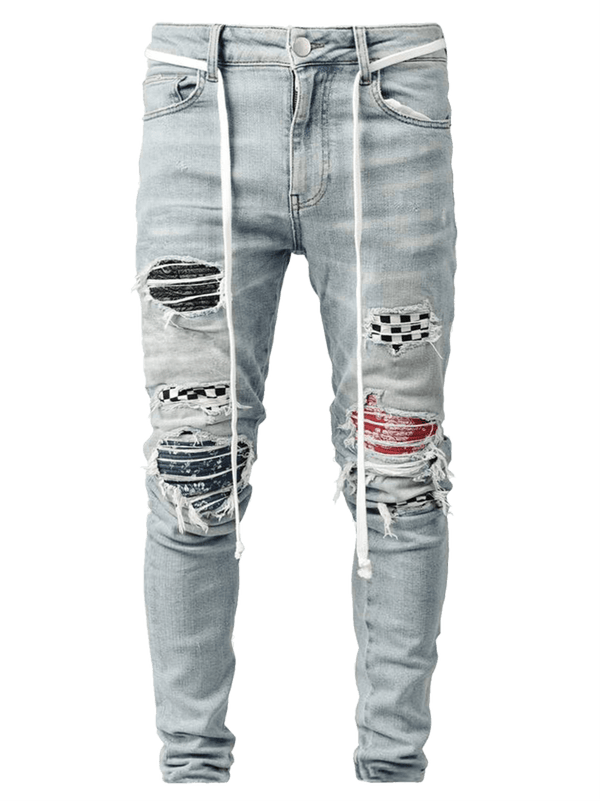Biker Patch Denim - Multi