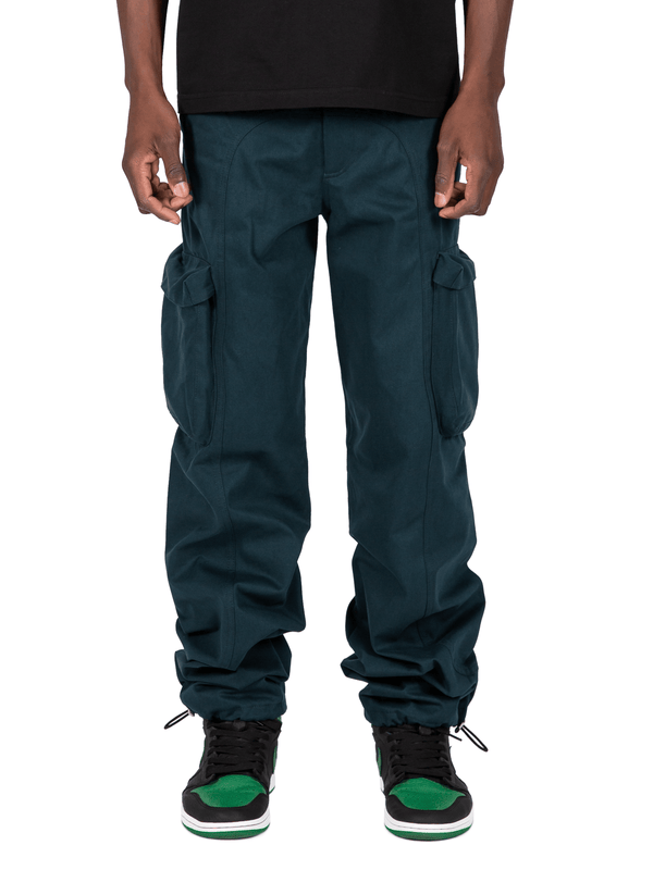 Teal Colored Acro Cargo Pants From Front