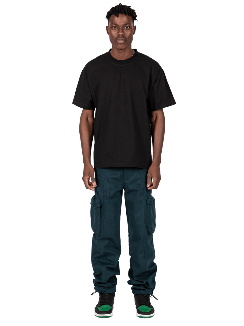 Teal Colored Acro Cargo Pants From Full Front