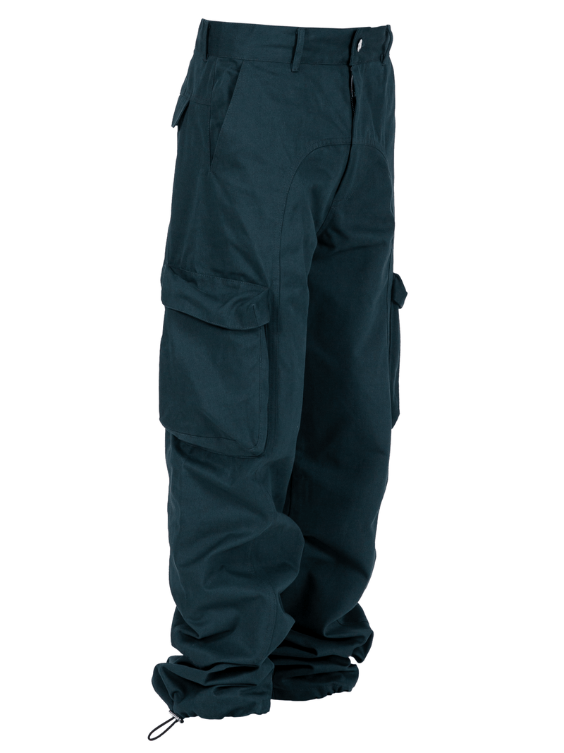 Teal Colored Acro Cargo Pants
