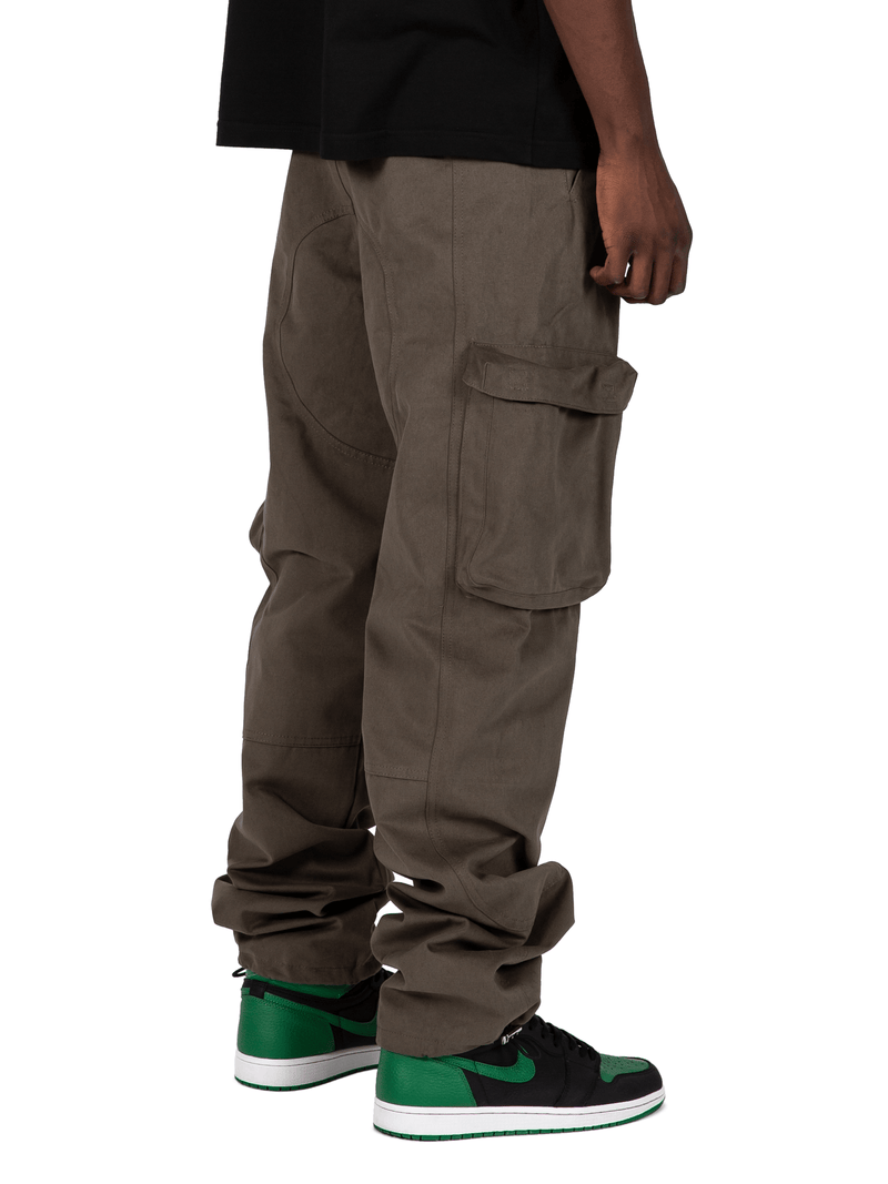 Forest Colored Acro Cargo Pants From Back Right