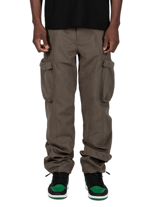 Forest Colored Acro Cargo Pants From Front
