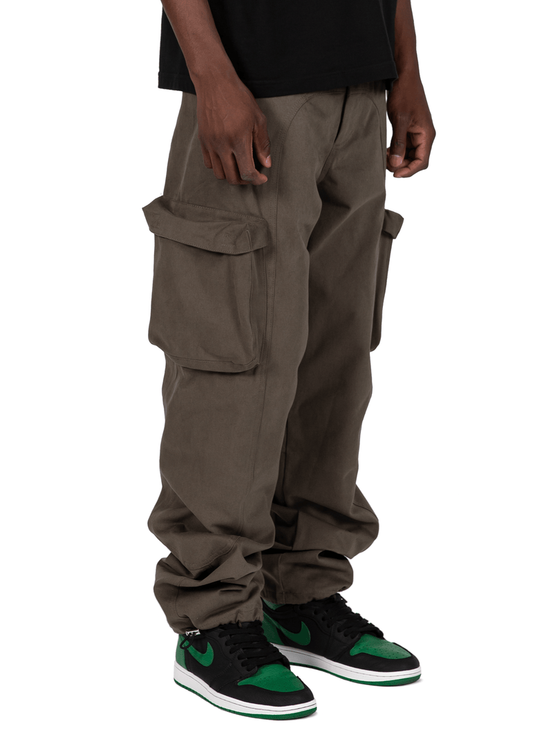 Forest Colored Acro Cargo Pants From Front Right