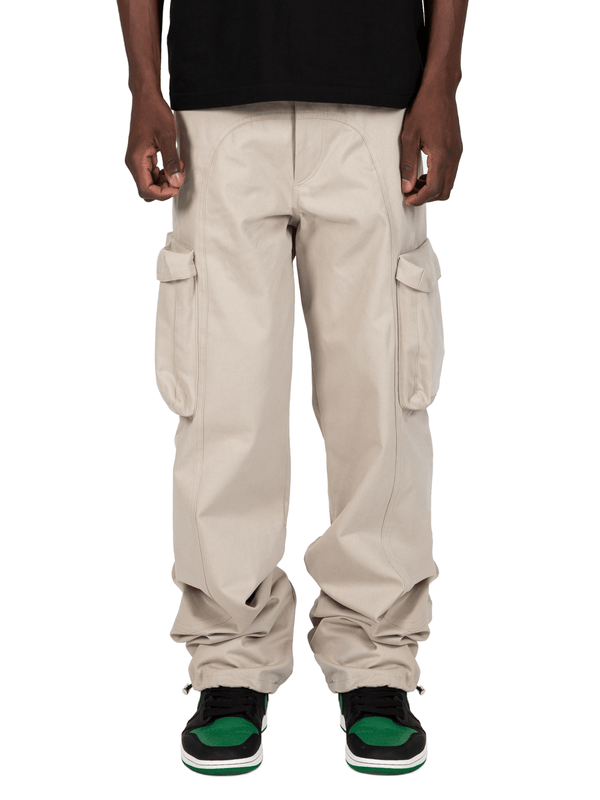 Sand Colored Acro Cargo Pants From Front