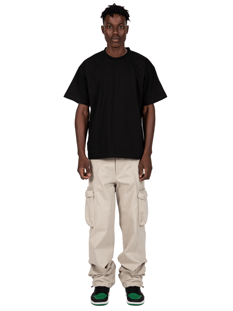 Sand Colored Acro Cargo Pants  From Full Front