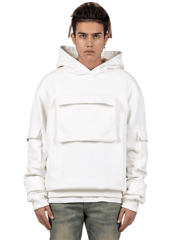 Multi Pocket Hoodie - Off-White