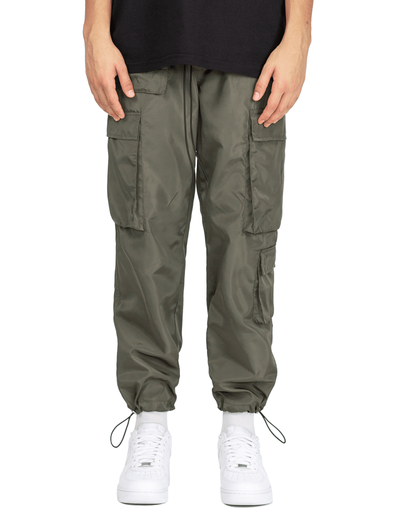 Nylon Cargo Pants - Forest