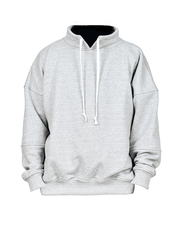 Collared Crew - Heather Grey