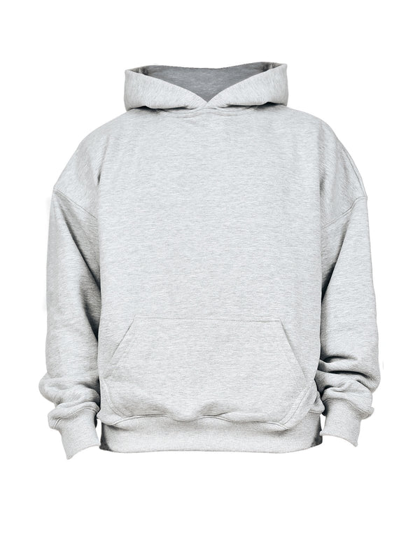 Oversized Hoodie - Heather Grey - lakenzie