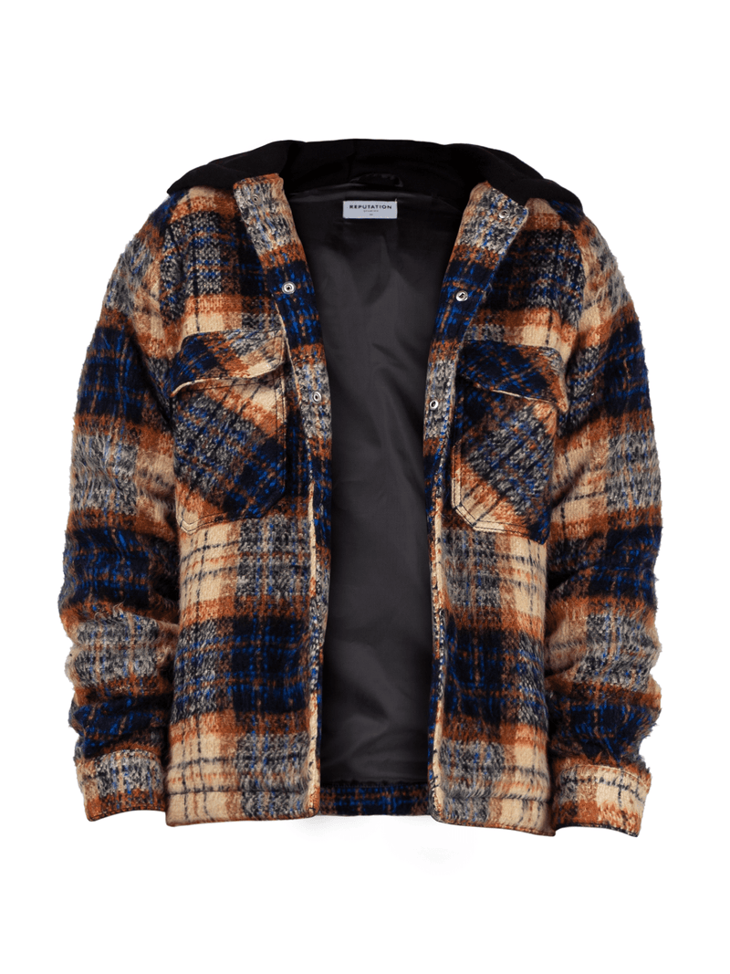 Oversized Tartan Shirt - Copper