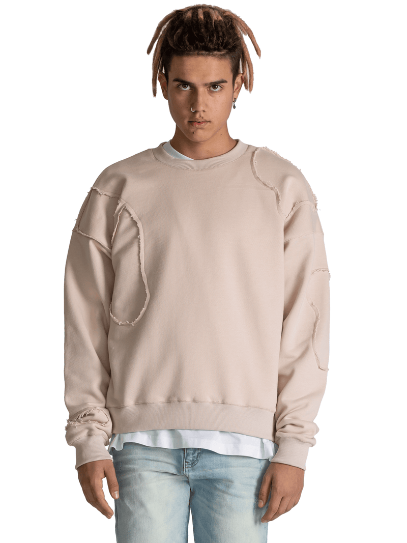 Repaired Sweater - Beige