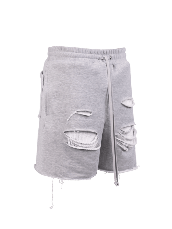 Ripped Shorts - Heather Grey