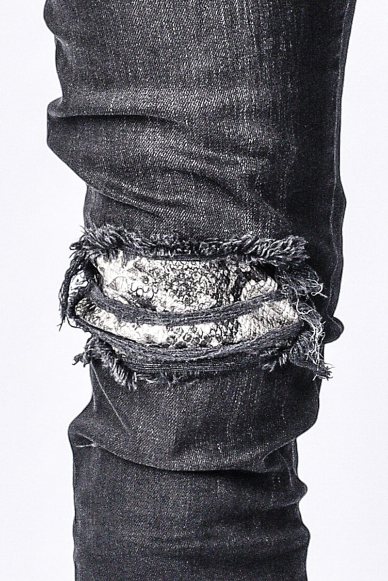 Biker Patch Denim - Snake