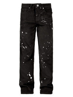 Splatter Cord Pants - Black