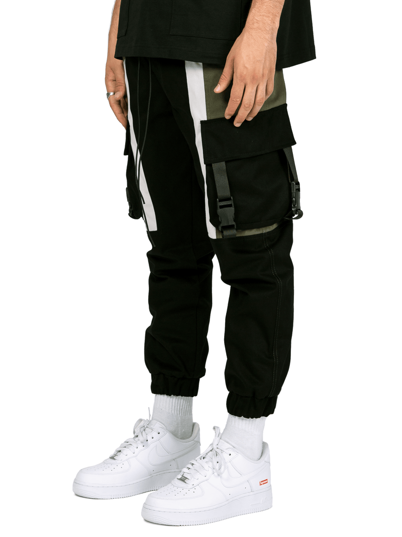 Pocket Cargo Pants - Black