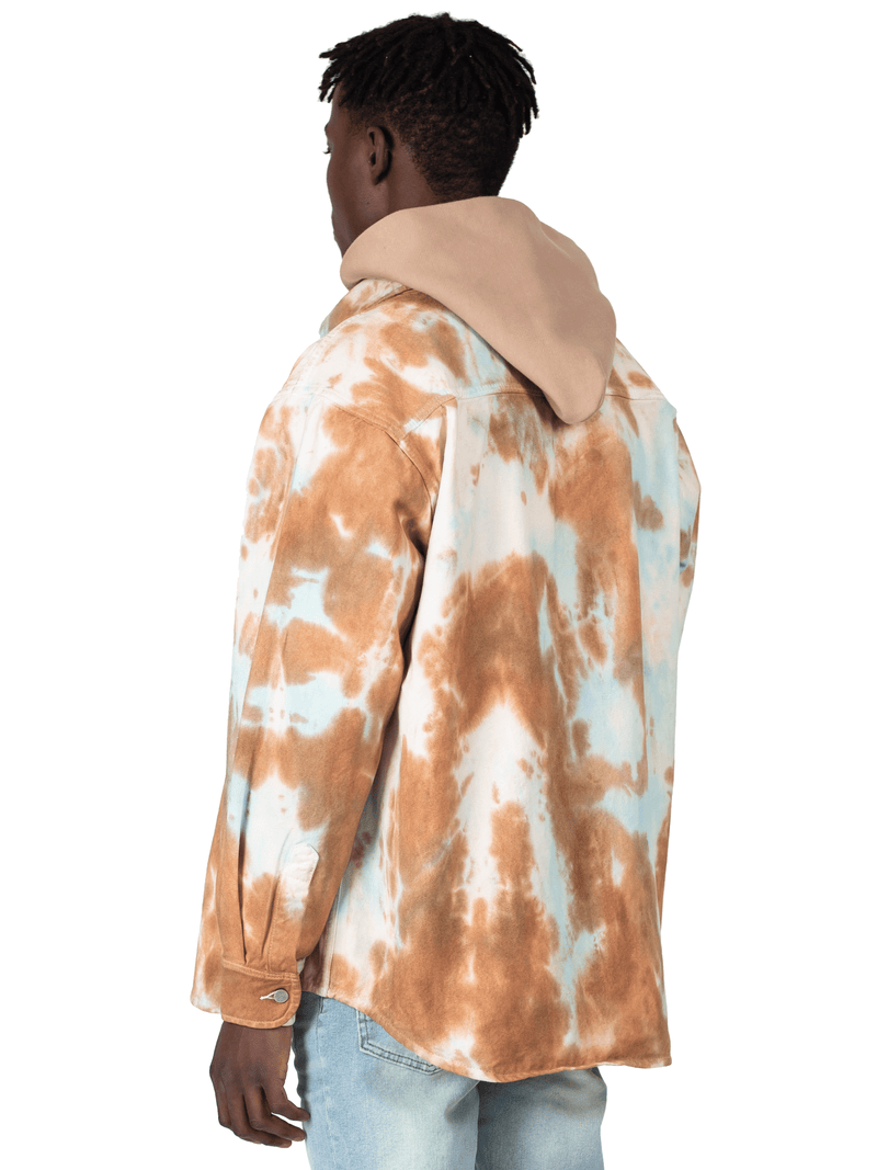 Oversized Tie Dye Shirt - Rust