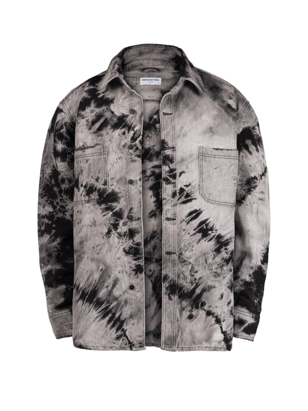 Oversized Tie Dye Shirt - Black