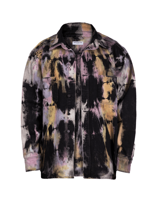 Oversized Tie Dye Shirt - Colour