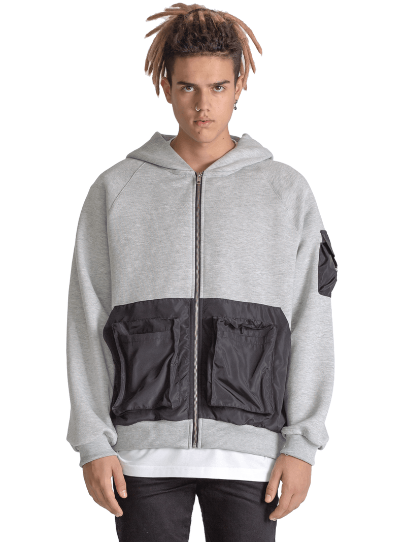 Utility Hoodie - Heather Grey