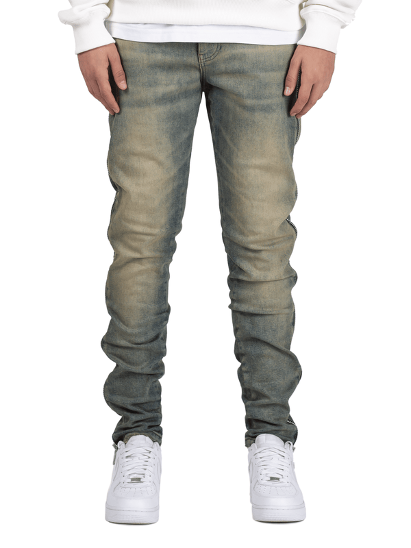Zipper Denim - Dirty Wash