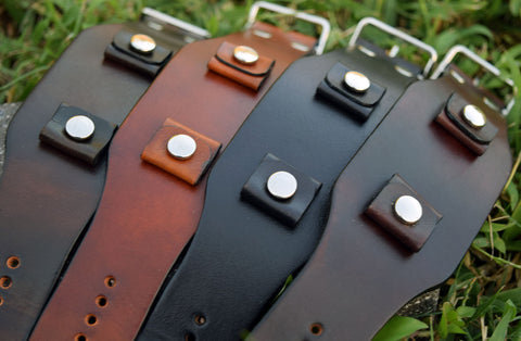 Saddle Leather Watch Bands handmade in USA