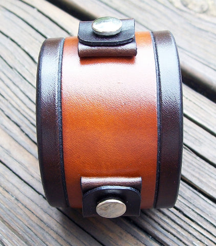 Handmade Leather Watch Band Cuffs | 1.75