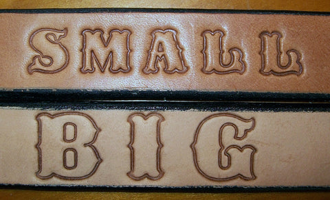 Embossed Name Belts for Children