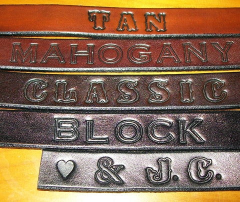 Leather Name Wristbands