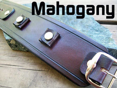Mahogany Leather Watch Cuff
