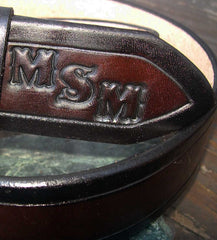 Leather Belt with Initials