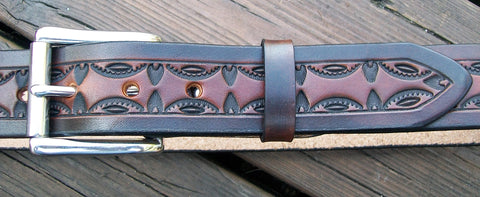 2 Tone Handmade Leather Belt