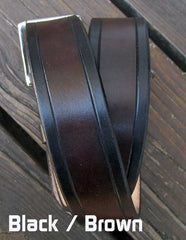 Black & Brown 2 Tone Leather Belt