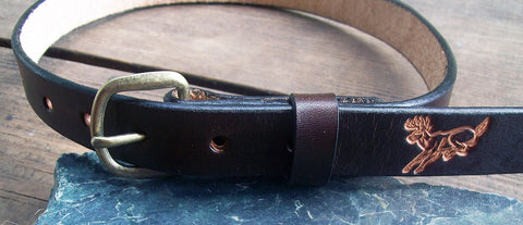 Kids Leather Belt | Deer