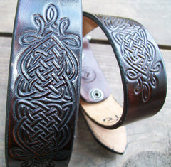 Celtic Knot Leather Belt