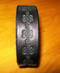 Black Leather Wristband