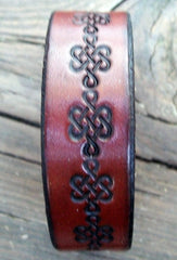 Mahogany Leather Writlet