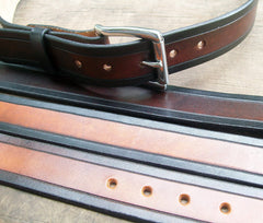 2 Tone Leather Belts