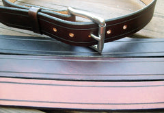 Grooved Leather Belts