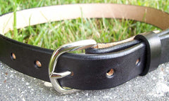 Black Leather Belt for Kids