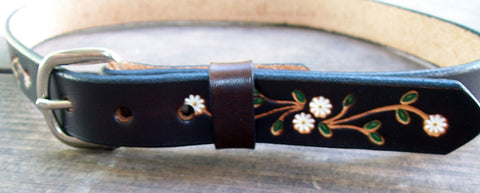 Daisy Flower Leather Belt for Kids