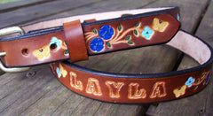 Kids Leather Name Belts