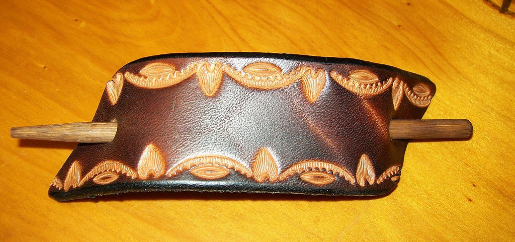 Handmade Leather Barrette