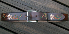 Daisy Flower Leather Belt