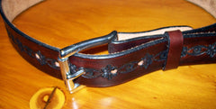 Hand Tooled Leather Belt
