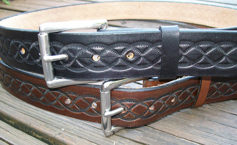 Hand Tooled Leather Belts | Knot Design| Personalized FREE!
