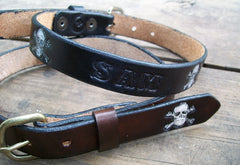 Leather Name Belts for Children