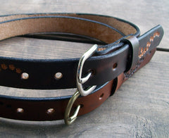 Child Leather Name Belt