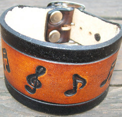 Musical Notes Leather Bracelets