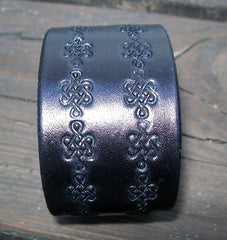 Celtic Leather Snap Cuff